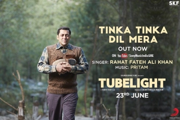 New Song: Salman Khan & Rahat Fateh Ali Khan reunite for Tinka Tinka in Tubelight