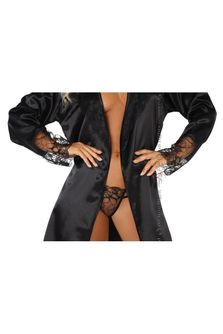 Fabienne Dressing Gown and Thong White, Beauty Night