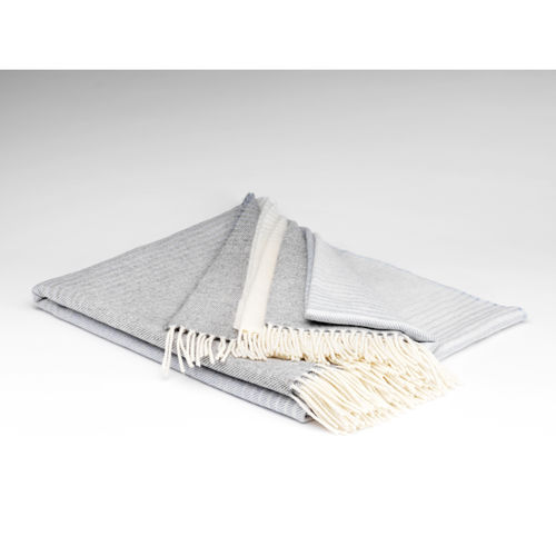 Silver Grey Ombre Lambswool throw
