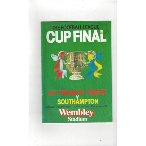 1979 Nottingham Forest v Southampton League Cup Final Football Programme