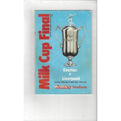 Everton v Liverpool League Cup Final 1984