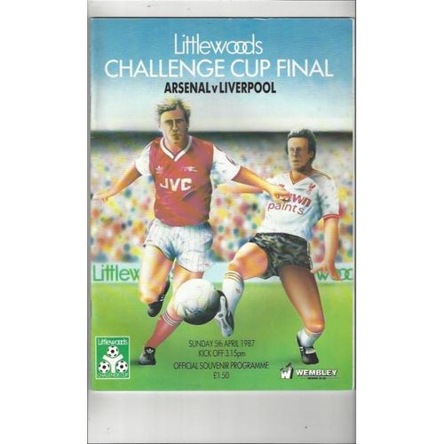 Arsenal v Liverpool League Cup Final 1987