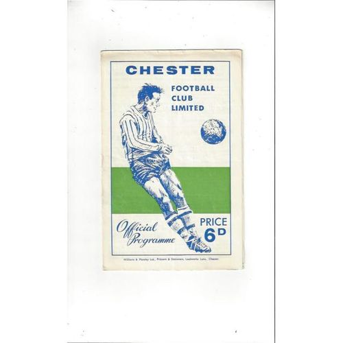 Chester City Home Football Programmes