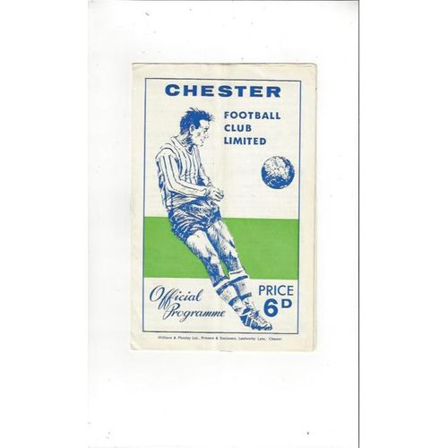 1965/66 Chester v Newcastle United FA Cup Football Programme