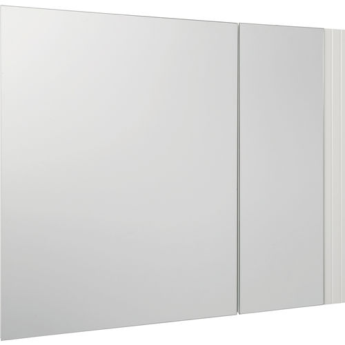 White Double Door Bi View Cabinet