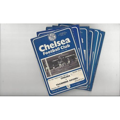 38 Different Chelsea Home Football Programmes 1962/63 to 1969/70
