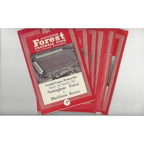 21 Different Nottingham Forest Home Football Programmes 1961/62 to 1967/68
