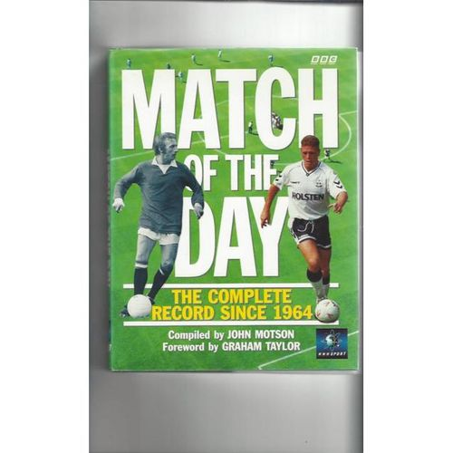 Match of the Day Complete record since 1964 Hardback Edition Football Book 1992