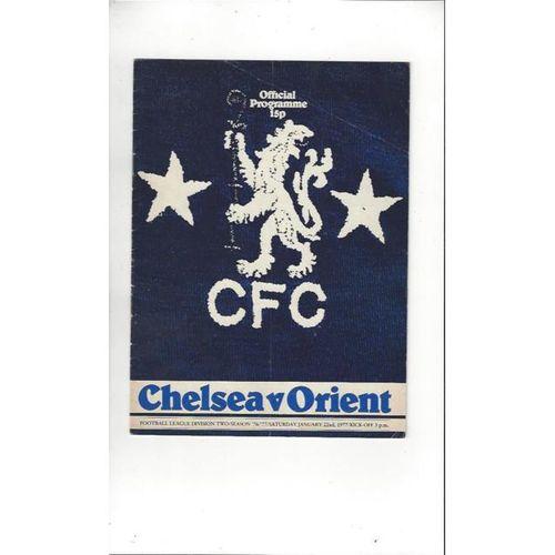 1976/77 Chelsea v Leyton Orient Football Programme