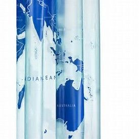 World Map PVC Shower Curtain