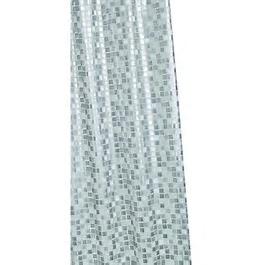 Sliver Mosaic PVC Shower Curtain