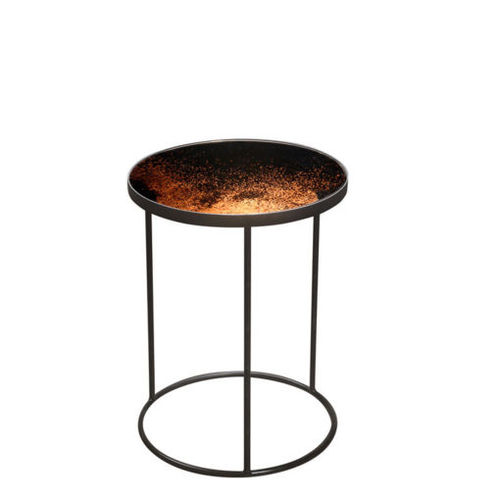 Bronze mirrored side table