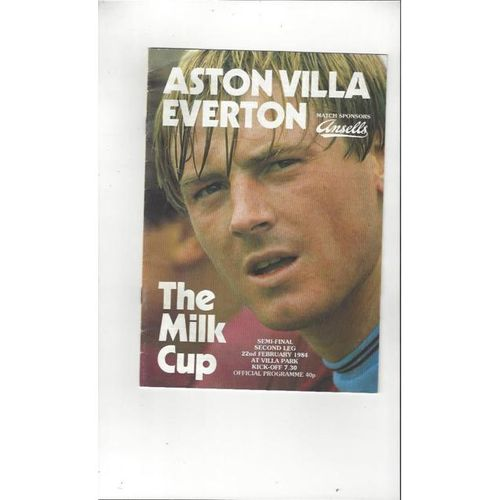 1983/84 Aston Villa v Everton League Cup Semi Final Football Programme
