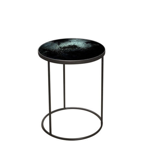Charcoal Mirrored side table