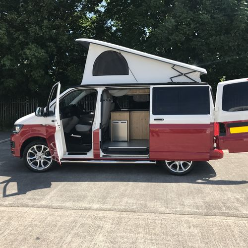 Volkswagen T6 Red & White Two Tone - SOLD