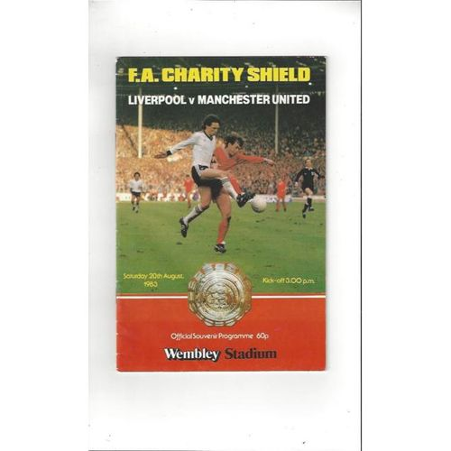 1983 Liverpool v Manchester United Charity Shield Football Programme