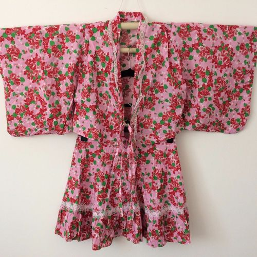 Japanese two piece summer yukata for girls, 150cm, used