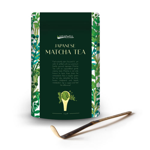Japanese Matcha Powder & Bamboo Scoop - Combo Pack