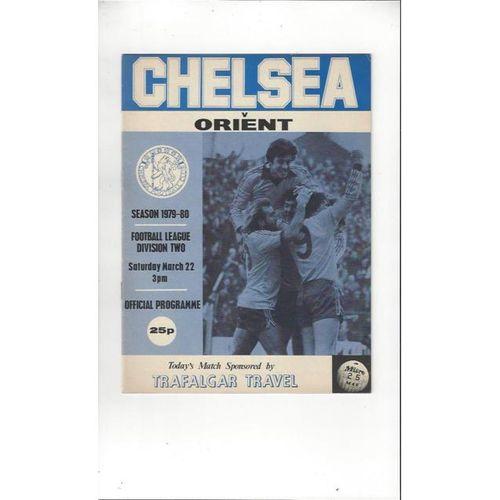 1979/80 Chelsea v Leyton Orient Football Programme