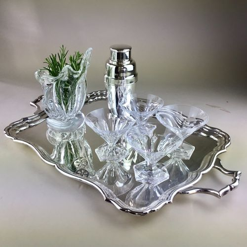 Silver plated Art Deco serving tray Circa 1920s