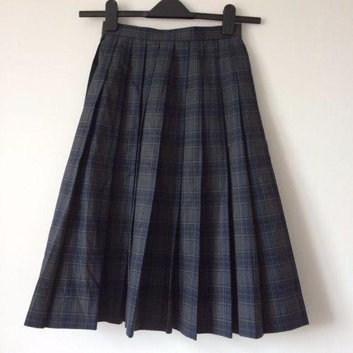"Authentic Japanese school girl uniform skirt, waist 54cm/21.2"""