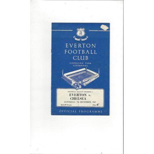 1963/64 Everton v Chelsea Football Programme