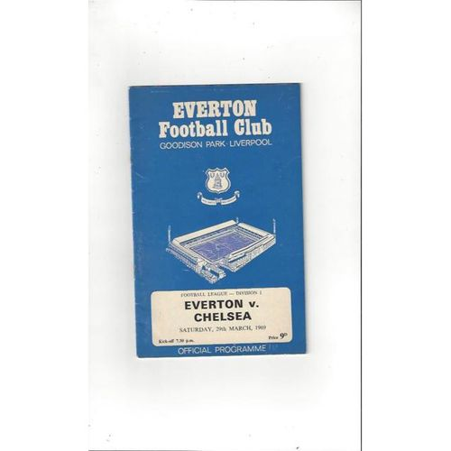 Everton v Chelsea 1968/69 + League Review