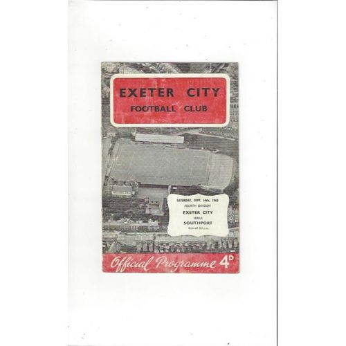 1963/64 Exeter City v Southport Football Programme