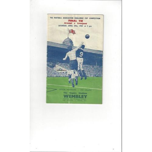 1950 Arsenal v Liverpool FA Cup Final Football Programme
