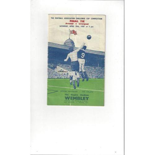 Arsenal v Liverpool FA Cup Final 1950