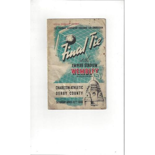 Charlton v Derby County FA Cup Final 1946 Football Programme + Ticket & Pirate