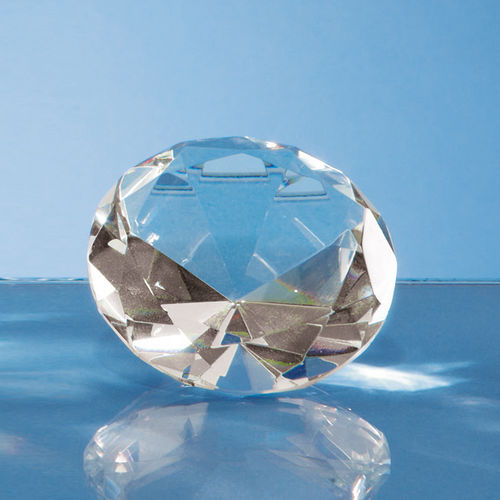 Optical Crystal Clear Diamond Paperweight - 6cmj