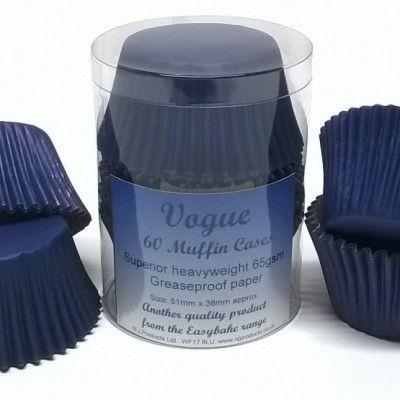60 NAVY BLUE MUFFIN CASE
