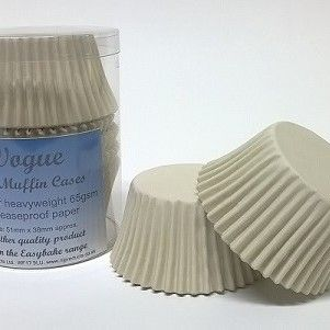 60 IVORY VOGUE MUFFIN CASES