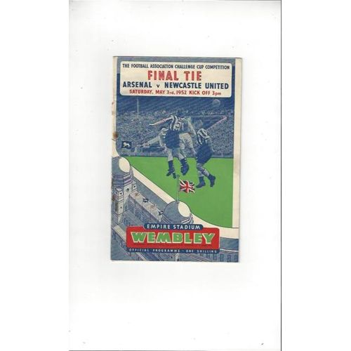 1952 Arsenal v Newcastle United FA Cup Final Football Programme