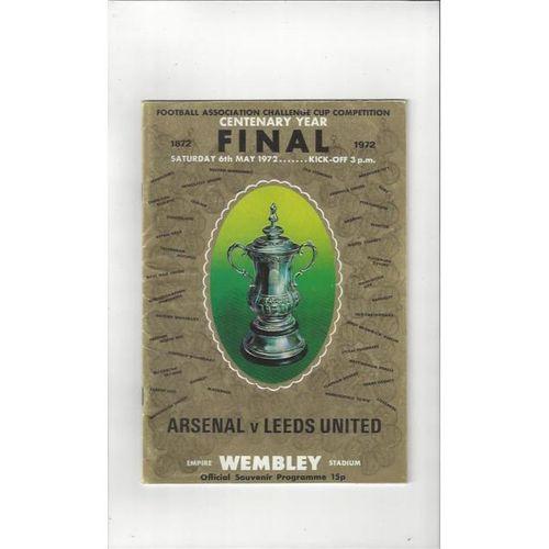Arsenal v Leeds United FA Cup Final 1972