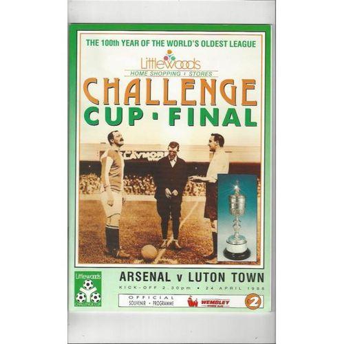 Arsenal v Luton Town League Cup Final 1988