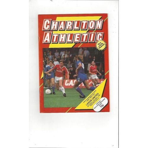 1987 Charlton Athletic v Leeds United Play Off Football Programme