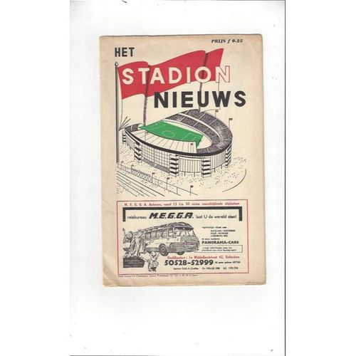 1963 Athletico Madrid v Tottenham Hotspur European Cup Winners Cup Final Football Programme