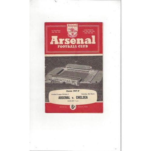 Arsenal v Chelsea 1957/58