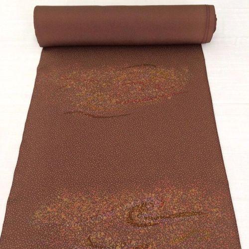Brown silk kimono fabric