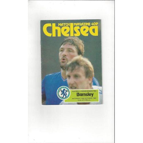 1981/82 Chelsea v Barnsley Football Programme