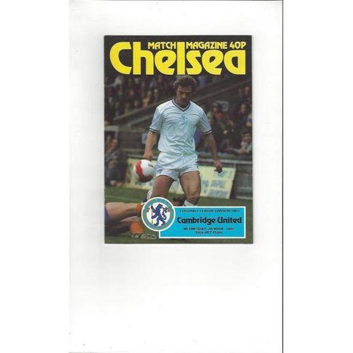 1981/82 Chelsea v Cambridge United Football Programme