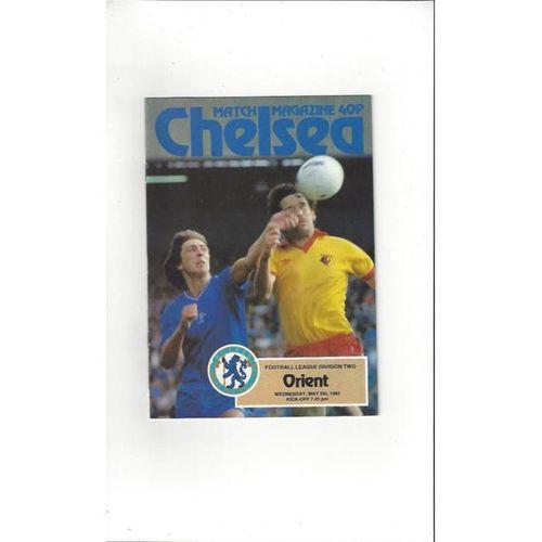 1981/82 Chelsea v Leyton Orient Football Programme
