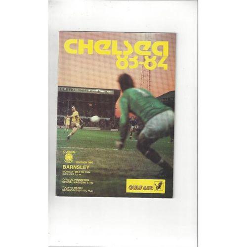 1983/84 Chelsea v Barnsley Football Programme
