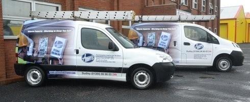 Image of Abbott's service vans