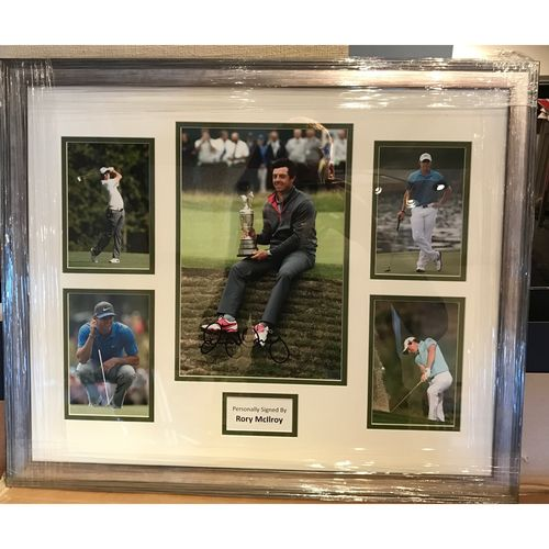 Hand Signed Rory McIlroy Montage