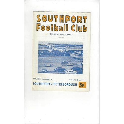 Peterborough United Away Football Programmes
