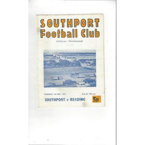 1971/72 Southport v Reading Football Programme