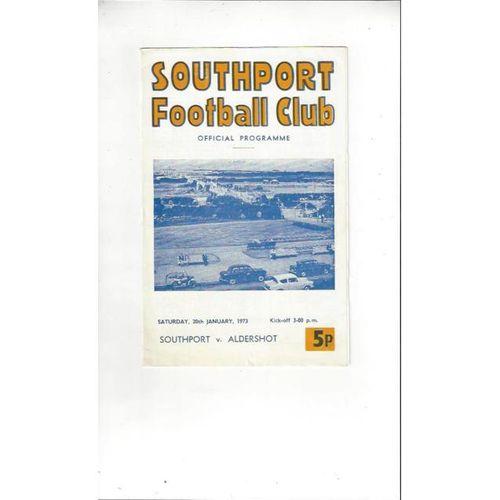 1972/73 Southport v Aldershot Football Programme